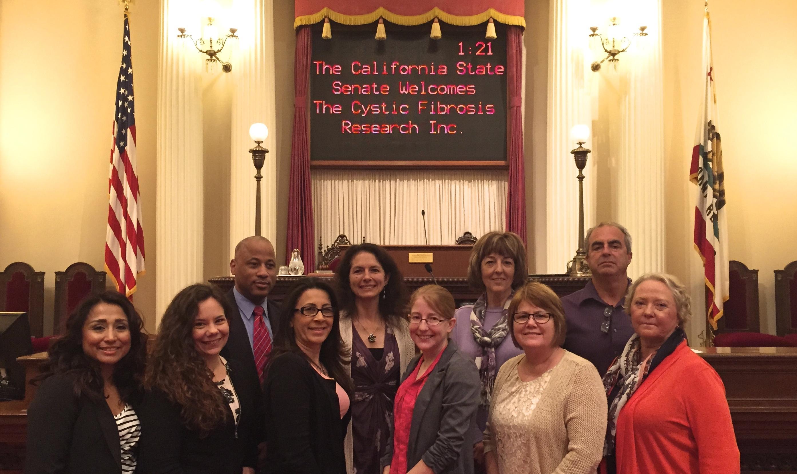 CFRI leaders and community members at the California State Senate